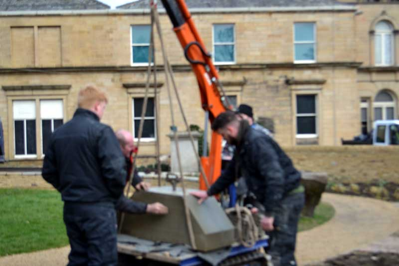 Heritage Memorial Garden - The stone for the garden arrives