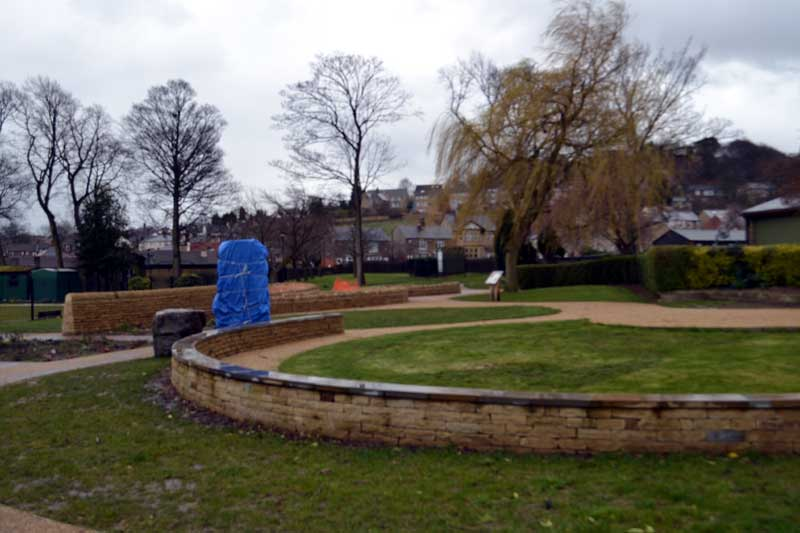 Heritage Memorial Garden - The stone for the garden is wrapped - waiting to be finished!