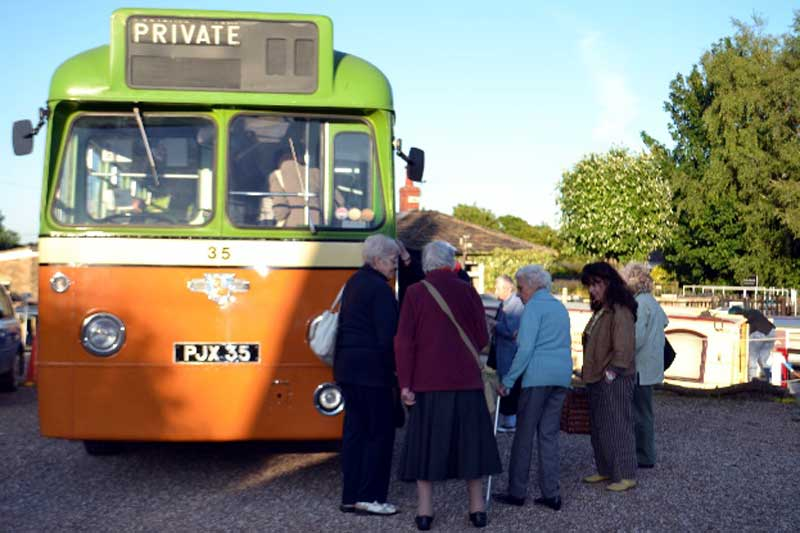 Veteran single deck bus