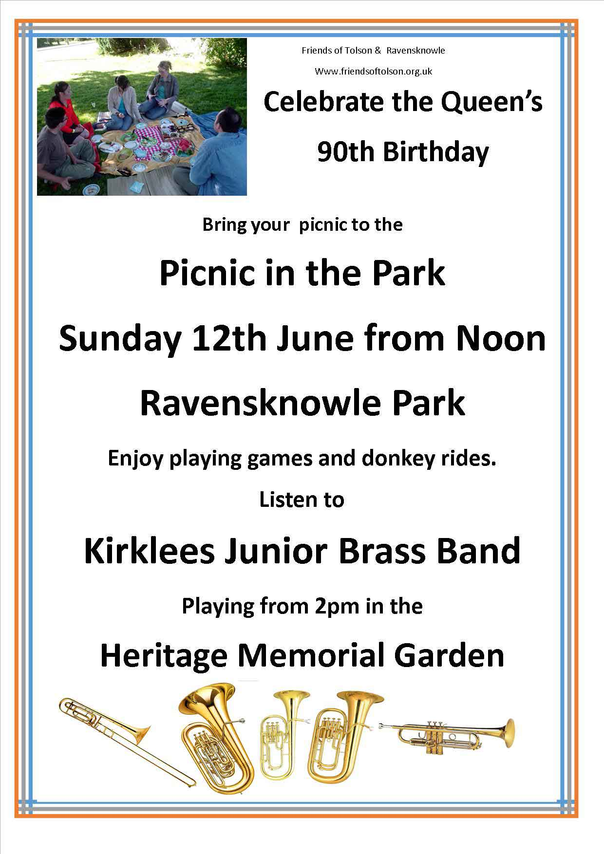 Celebrate the Queen's 90th Birthday - Picnic in the Park